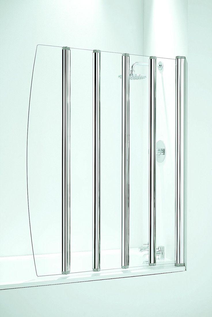 Coram Showers SFD5CUC 1400 mm x 1060 mm 5-Panel Chaise de bain pliable avec écran 4 mm d'épaisseur en verre transparent - Chrome: Amazon.fr: Bricolage