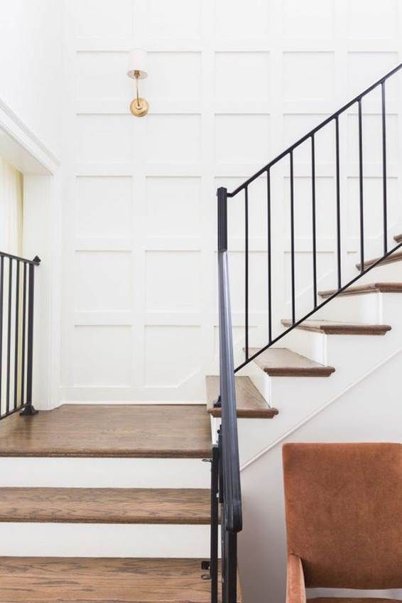 135 best stair rails images on pinterest banisters Ranch style staircase