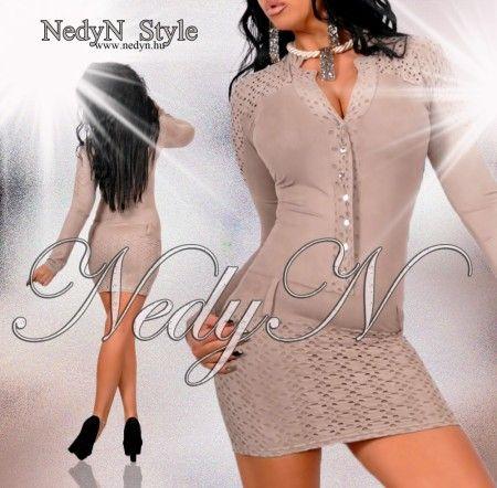 NedyN  szarvasbőr hatású női ruha  M-es