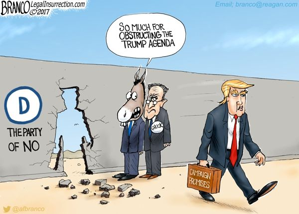Although Chuck Schumer and the democrats try to obstruct, Resist, and defy Trump's agenda, Trump keeps on going and going and going.