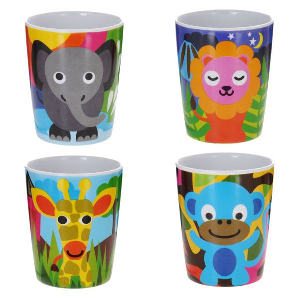 Jungle Juice Cup Set - 4 Assorted