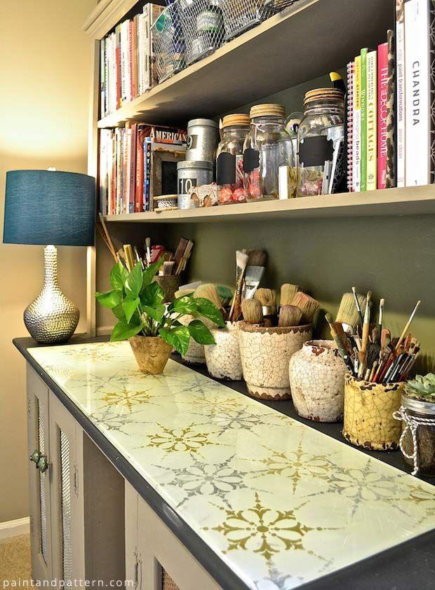 237 best Antiqued mirror, eglomise... images on Pinterest | Antiqued ...