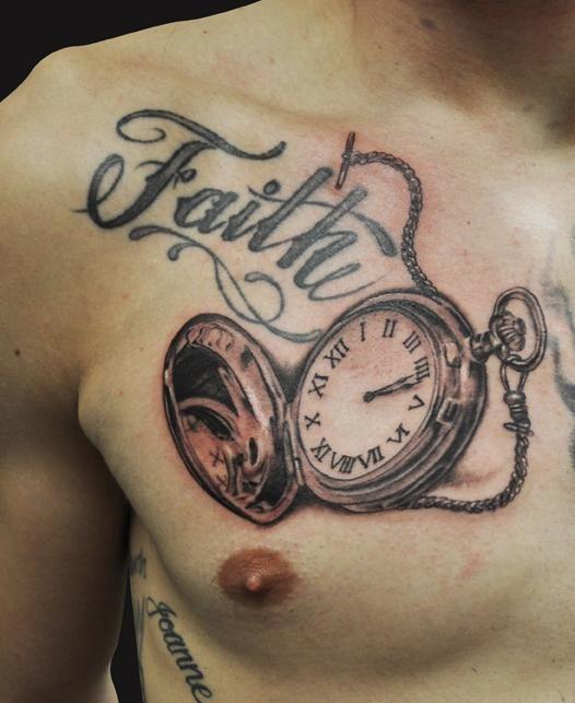 Taschenuhr herz tattoo  27 besten Vintage Clock Locket Tattoo Bilder auf Pinterest ...