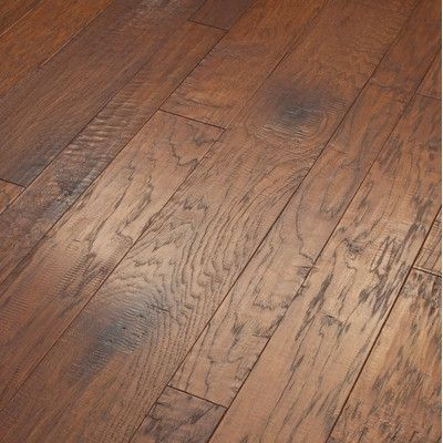 Shaw Floors Hudson Bay Engineered Handscraped Hickory Flooring in Schoolhouse $6.49 by AllModern