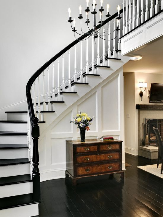 Best Black And White Stair Case Stairwell Pinterest Dark White Home Decor And The Black 400 x 300