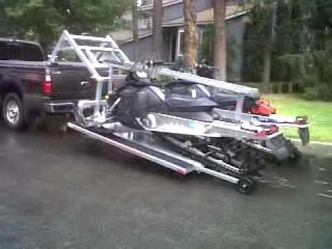 Aluminum Atv Ramps >> hydraulic sled deck   Snowmobile trailers, Trailer deck, Sled