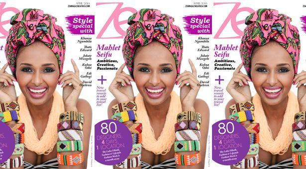 Samantha Clarke Photography's photo of Ethipian Model Mahlet Seifu on the cover of Zen Magazine' April Issue.