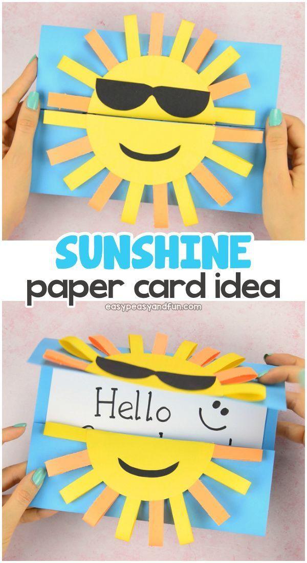 Sun Diy Paper Card Fun Paper Craft For Kids Paper Crafts