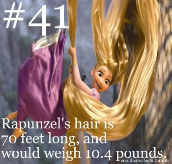 Rapunzel's hair is definitely the best. It's 70 feet long, for crying out loud!!!!!!!!! And throughout the whole movie, through being swung on and used as a weapon, it stays in that beautiful golden hue and in wonderful condition