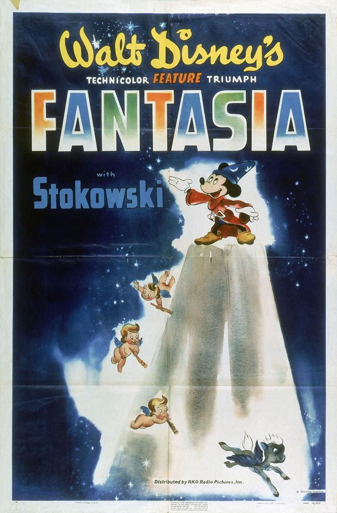 3) Fantasia (1940) watched 1/29/14 ~Fantasia, Disney's way of showing us music. This was the first time I had seen this movie and I quite enjoyed it. Some of the segments were better then others but overall it was good. I found it to be quite relaxing!  pinned from {TBT: See All 53 Walt Disney Animation Movie Posters | Oh My Disney}