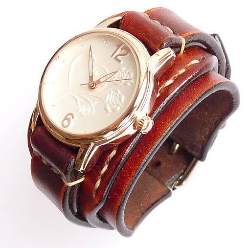 Dámske vintage hodinky hnedé