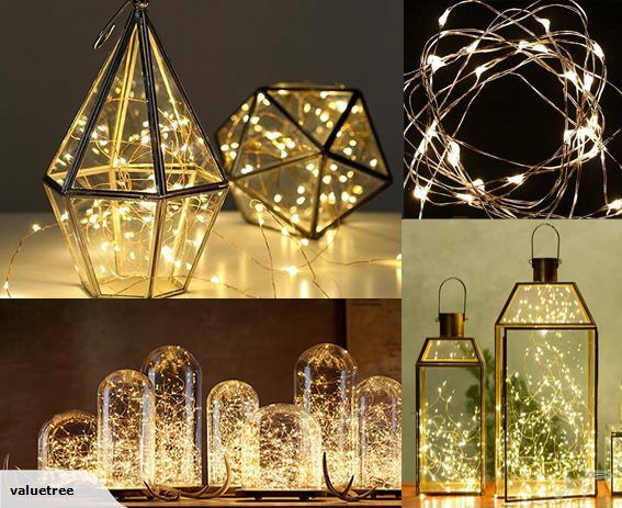 Decorative LED Wire Seed Light Warm White 2PCS | Trade Me