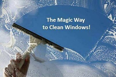 """HERE'S A MAGICAL WAY TO CLEAN YOUR WINDOWS!!!    This is the best way EVER to clean your windows...  No drying is needed, and you won't have any spots or streaks on your window!   You can clean 2 big sliding glass doors and 8 large windows in minutes!!!   Here are the ingredients you need to use:   1/2 gallon warm water   1 Tablespoon of liquid """"Jet Dry"""" (Finish Rinse Aid)  2-3 Tablespoons of liquid laundry detergent or dish washing soap   Mix all of the ingredients above.   Spray your ..."""