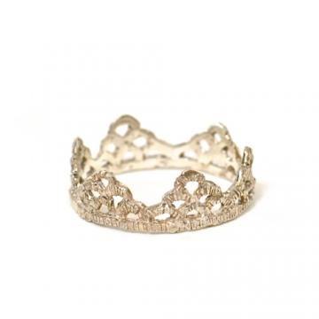 "Satomi Kawakita Sterling silver ""Lace"" ring, size 6.75 : GARDE"