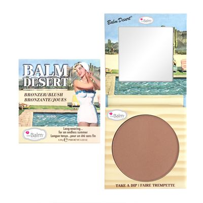 feelunique Makeup Magpie Summer Beauty Look Number 9 - If you're not already blessed with a tanned complexion then fake it with theBalm Balm Desert Bronzer/Blush 6.39g. Sweep the powder across your temples and cheeks for a sun-free kiss of colour