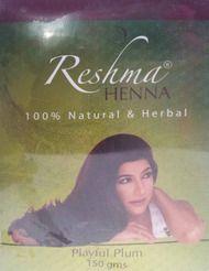 Reshma Henna Playful Plum 100% Natural & Herbal Henna 5.29 OZ (150 Grams)