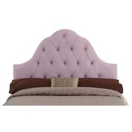 lavender tufted headboard