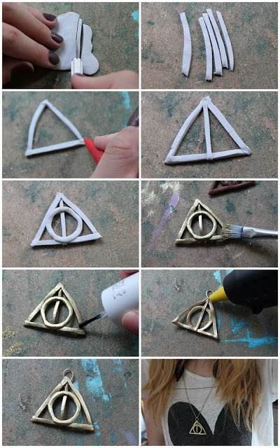 DIY - Deathly Hallows Fimo Necklace