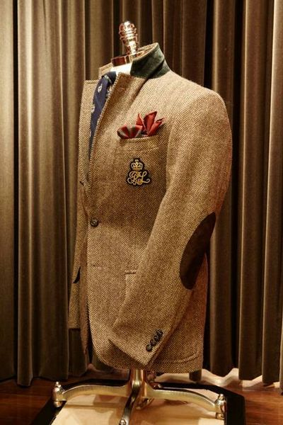 Herringbone with patchesMen Clothing, Ralph Lauren, Elbow Patches, Men Style, Men Fashion, Sports Coats, Accent Colors, Sport Coats, Tweed Blazers