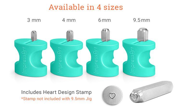 Amazon.com: ImpressArt Simple Strike Metal Stamping Jig, 4mm: Arts, Crafts & Sew…
