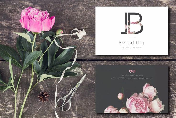 Betta-Lilly Floral Design  Logo Branding