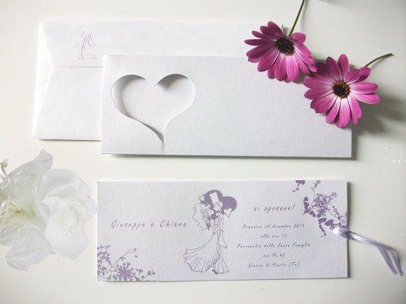25 Wedding invitation. Suite di 25 Partecipazioni di 3dimensioni  #Etsy