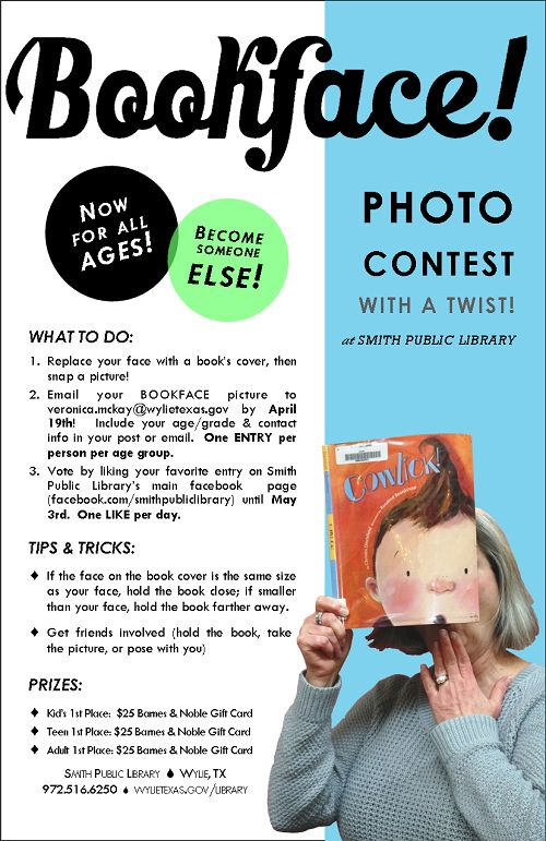 Bookface Photo Contest--this would be nice to have everyone submit, then post a…