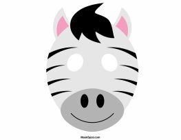 Zebra mask templates including a coloring page version of the mask. Free printable PDF at http://maskspot.com/download/zebra-mask/
