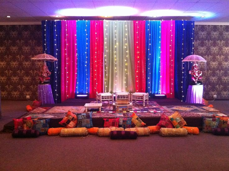 Sangeet mehndi backdrop diy wedding pinterest for Sangeet decorations at home