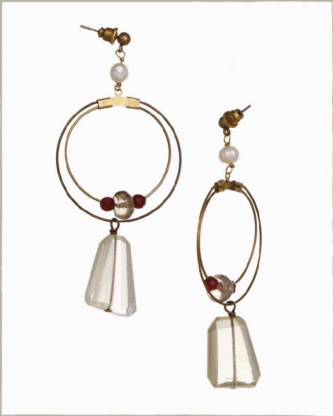 Handmade earrings, made with love.
