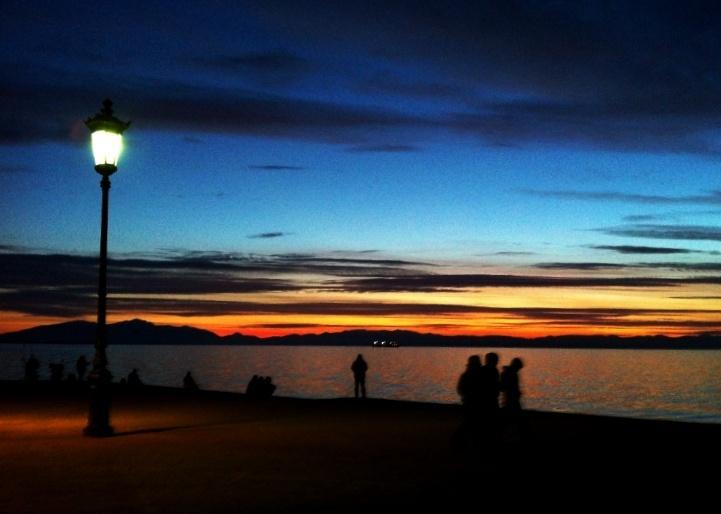 Sunset in Thessaloniki, 1st of Feb. '13