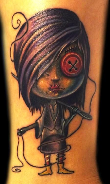 Zombie Girl Tattoo... but get a coraline tattoo