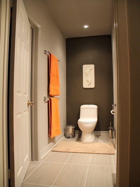 Gray And Orange Next Orange Bathrooms Diy Bathroom