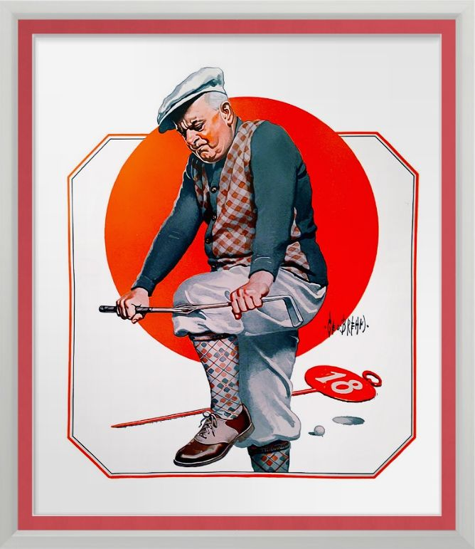 Golf Tantrums - Vintage Print. Vintage Collier's Magazine Oct 1924 magazine illustration reproduced on Archival Heavyweight Paper.  George Brehm. One for the golfer's wall http://www.zazzle.com/golf_tantrums_vintage_print-228766700525850956 #golf #art #print #golfhumor #vintage