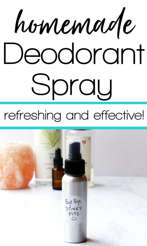 Homemade deodorant spray that is refreshing, soothing and effective for stinky armpits. Made with