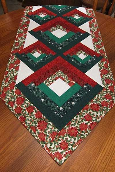 Christmas Log Table Runner