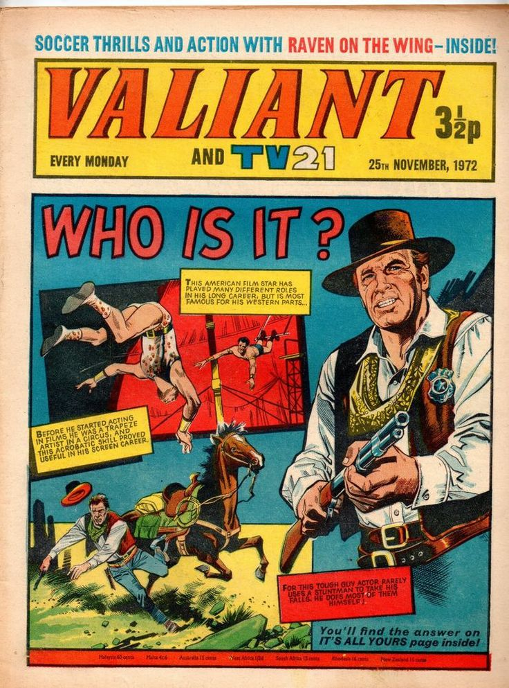 VALIANT AND TV 21 COMIC 25 TH NOVEMBER 1972  STAR WARS