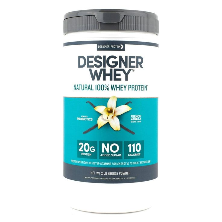 Designer whey protein powder french vanilla 32oz