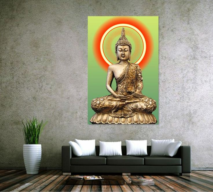 Hd print golden buddha painting picture living room wall decor modern home decoration print painting on canvas wall art