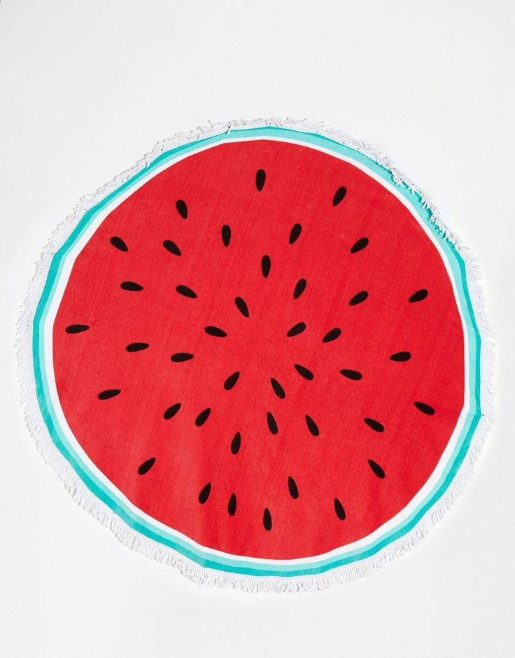 Image 1 of South Beach Watermelon Round Beach Towel