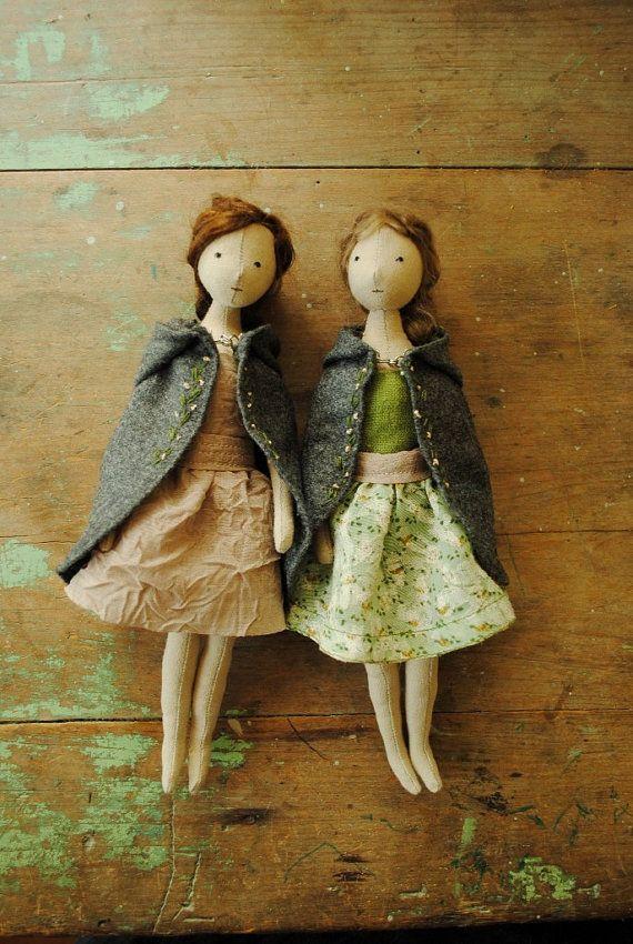 Muñeca de trapo por Willowynn / hecho a la medida Por willowynn en Etsy