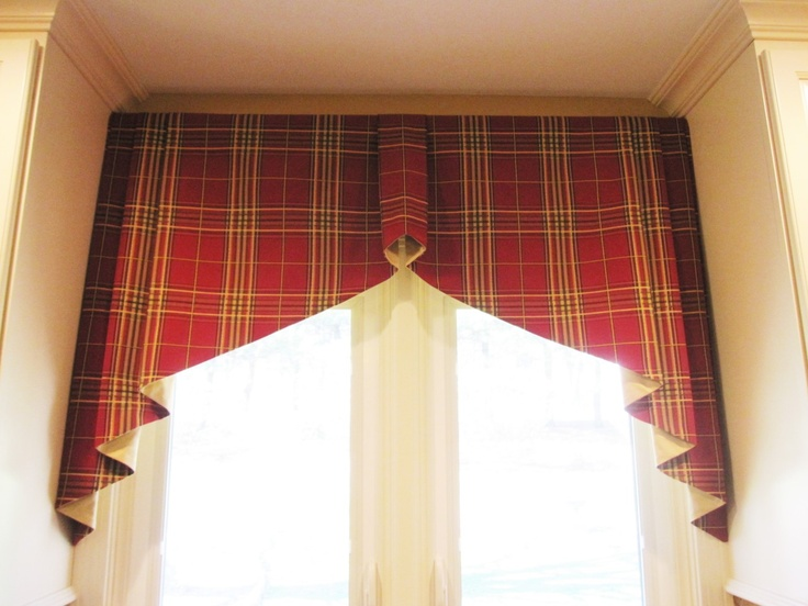 tapered box pleated valance is in robert allen elba plaid lynn chalk for the