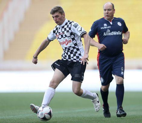 Max Verstappen with The Prince of Monaco. Before GP of Monaco 2016.