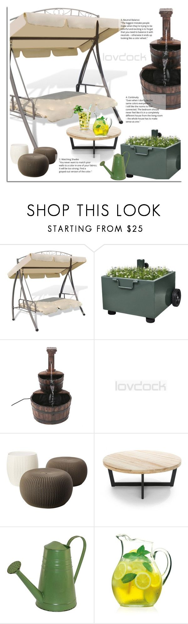 LovDock by dora04 on Polyvore featuring interior, interiors, interior design, home, home decor, interior decorating, Fountain, Luigi Bormioli and lovdock