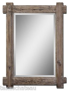 Nautical Beach House Driftwood Style Wall Mirror Mantel Bath Vanity Bathroom New