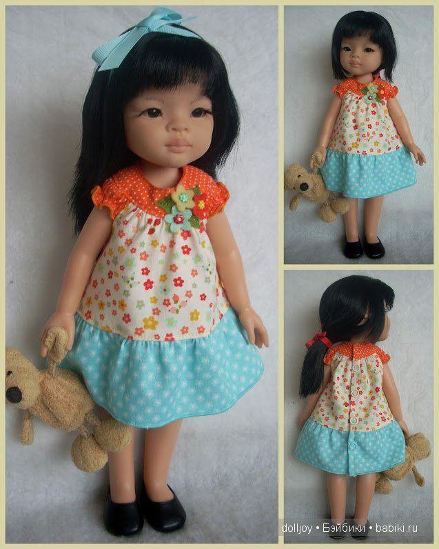 Выкройка платья для куклы Paola Reina - http://babiki.ru/blog/master/51198.html