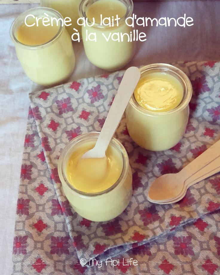 crème lait d'amande et vanille