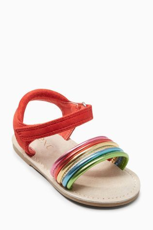 1a144fe1dca Buy Rainbow Strappy Sandals (Younger) from the Next UK online shop ...