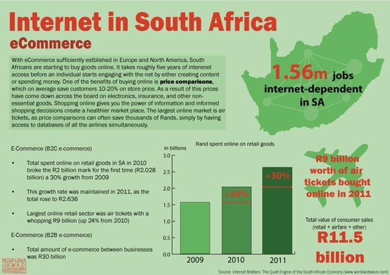 Internet in South Africa: eCommerce infographic