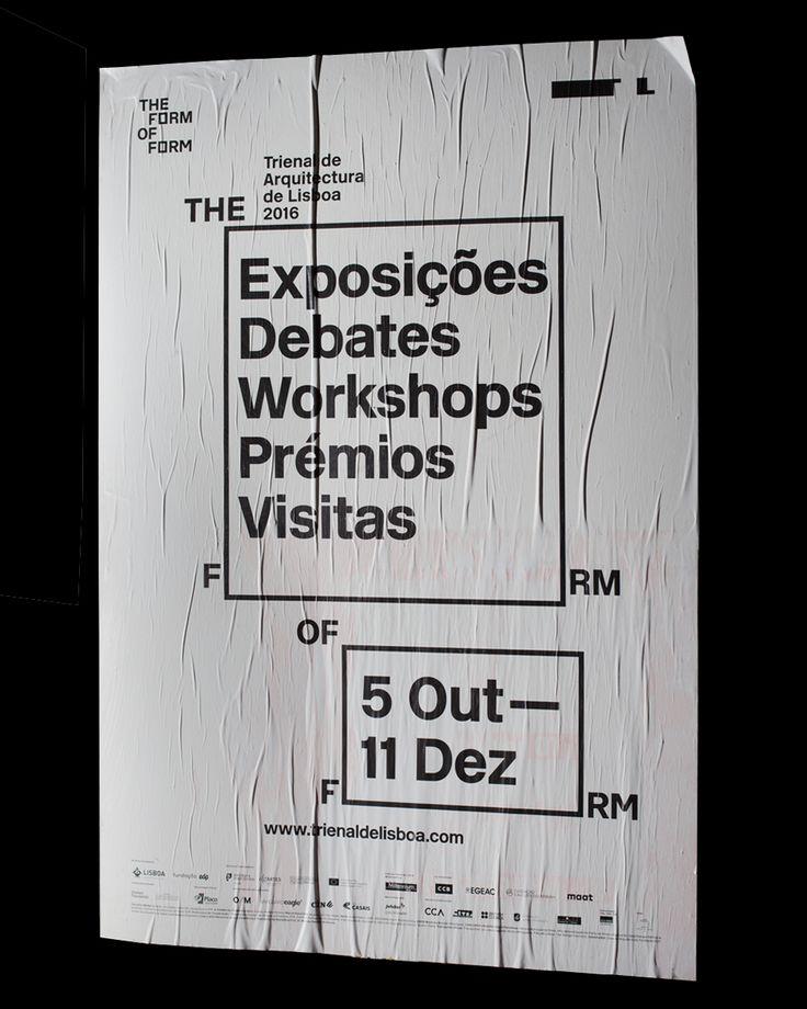 #theformofform #trienaldelisboa #r2design #poster #identity